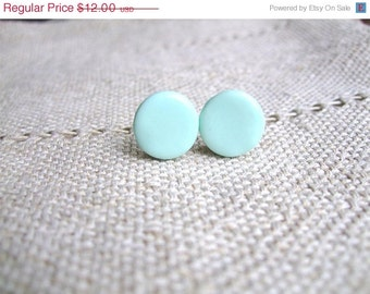 Turquoise mint blue stud earrings-Turquoise light blue earrings- everyday jewelry