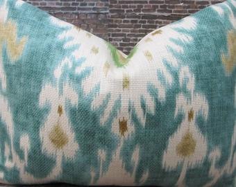 Designer Pillow Cover Lumbar - 10 x 20, 12 x 16, 12 x 18, 12 x 20 - Nav Ikat -