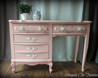 Light Coral French Provincial Desk