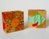 6 Sided Block Puzzle,  Puzzle, Waldorf Toy, Game, Stocking Stuffer