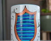 Made to Order - Ravenclaw House Cup - Hogwarts Houses - White, blue, bronze - Pottermore - Harry Potter - Wise, bookish - Crest
