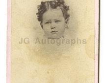 19th Century Children - 1800s Carte-de-visite Photo - Marston of Bangor, Maine