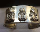 Reserved for Tina Vintage Sterling Carol Felley Storyteller Cuff Bracelet