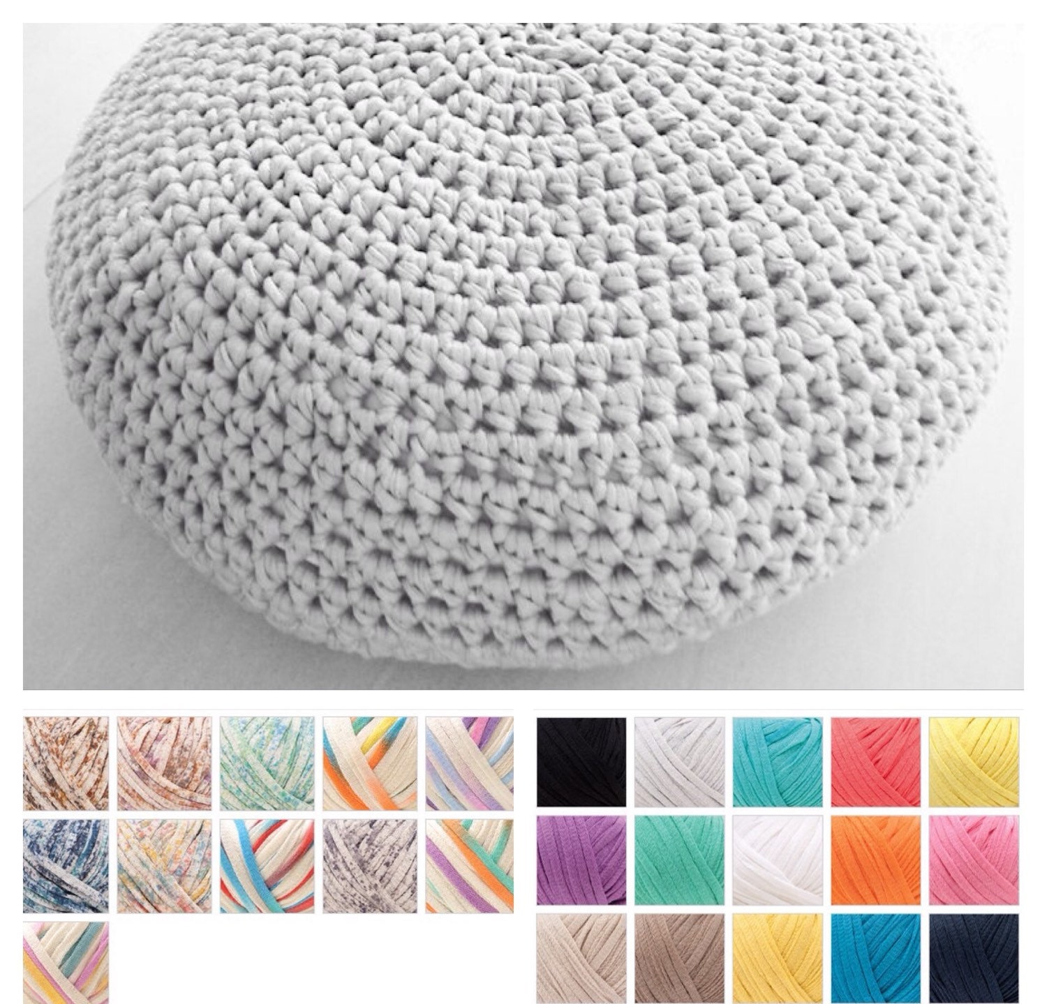 xxl crochet pouf ottoman floor cushion pdf pattern instant download from annemariesbreiblog on. Black Bedroom Furniture Sets. Home Design Ideas