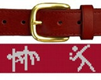 Track and Field Needlepoint Belt Canvas