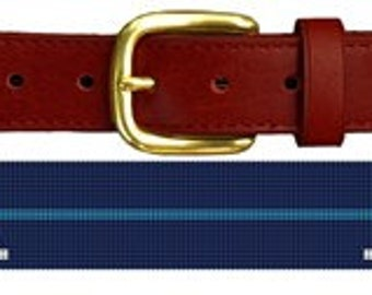 Custom Pinstripe Groomsmen Gift Needlepoint Belt Canvas