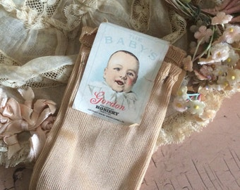 The Baby's Gordon Hosiery Socks With Label Lucky Baby