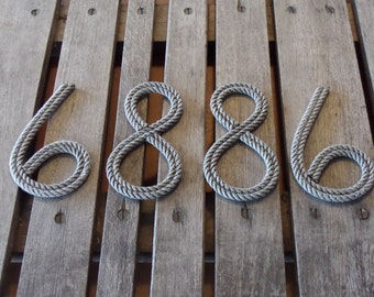 """8"""" Rope Letters Personalize MADE TO ORDER Alphabet Nautical Decor Text Letters Natural"""