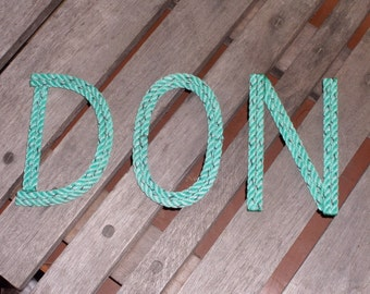 10 INCH Rope Letters Room Decor Kids Name or Nursery Sangs Nautical Themes Cowboy Rustic Western PERSONALIZE
