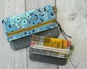 Foldover Pouch / zipper pouch {PDF sewing pattern} - instant download