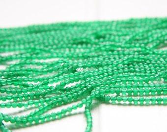One Full Strand / 12 Inches /  Green Aventurine  / Semiprecious Stone / Gemstone / 2.5mm (21C//M584)