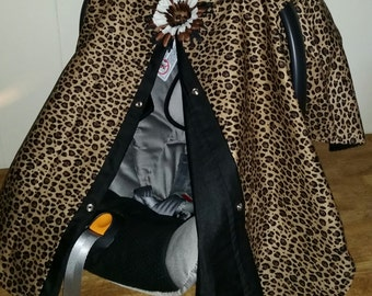 Carseat Canopy Cheetah and Black