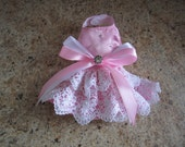"Dog Dress  Newborn Sweet Pink  By Nina's Couture Closet ""Classic and Comfortable """