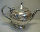 Silver Plate Tea Pot #6006 Empire Silver Co Benedict Mfg Co 1910-1953