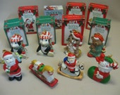 Collection Holiday Ornaments 7 Eleven Qty 8 Original Boxes Handcrafted 1992-1998