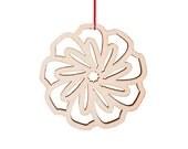poppy winter flower ornament
