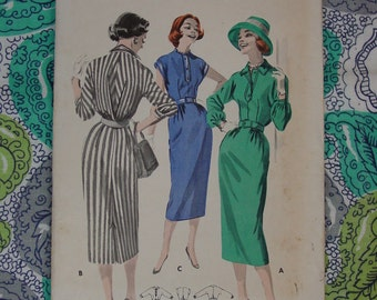 Vintage Pattern c.1950's Butterick No. 8270  Dress Size 12