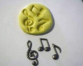 Musical notes mold for cake decorating, chocolate, hard candy, polymer clay, resin, wax, , silicone mould, cake pops cake pops M1019