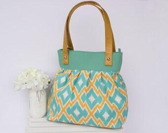 Teal Pleated Handbag