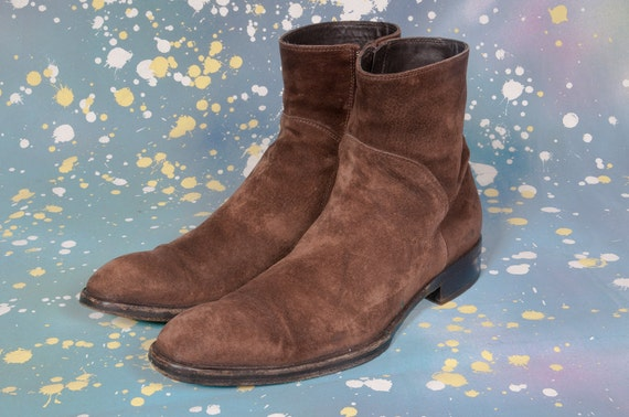 faconnable suede beatle boots size 9 uk 11 us