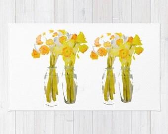 Rug, Daffodils