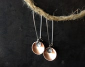 Copper and Silver Coin Earrings