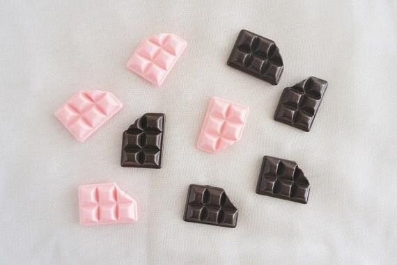 10pcs - Chocolate Bar Mix Decoden Cabochon (17x12mm) CY10011