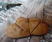 Wedding or Shower Favor Small Wooden Twisting Heart