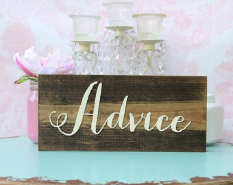 Advice Sign Rustic Wedding Advice Sign Wood Advice Plaque Advice Table Sign Advice Plaque Barn Wedding Sign Rustic Wood Advice Box Sign