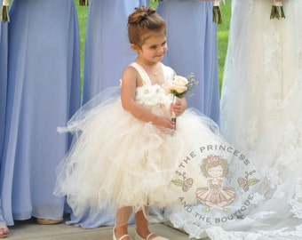 ivory dress, champagne dress, flower girl dress, flower girl dresses, baby dress, child dress, toddler dress, birthday dress, baptism dress