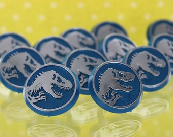 Jurassic World Cupcake Rings / Toppers / Decorations / Party Favors