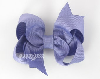 Hair Bow French Lilac - girls hair bows - toddler hair bows - baby hair bows - little girl hairbow - 3 inch bows - purple hair bow for girls