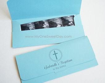 Photo booth party favors picture holder envelopes for Baptism or Children's parties