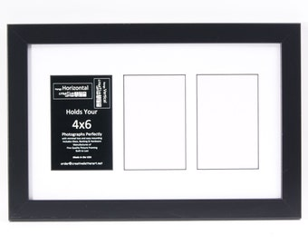 3 4 5 6 7 8 9 10 Opening Picture Frame with Collage Mat to hold 4x6 photographs for your Personalized Last Name with Glass
