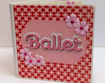 Ballet scrapbook chipboard premade pages brag book