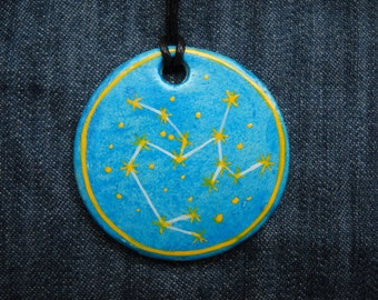 Sagittarius Jewellrey -Zodiac pendant,Constellation Zodiac Jewellery,august zodiac- Astrology - Astronomy - Constellation on Blue