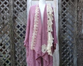 Crochet Jacket,Vintage Jacket,Bohemian Jacket,Shabby Chic Jacket,One Size Jacket,Size S-3X,by Nine Muses Of Crete