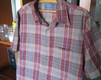 Large Rare Vintage Pendleton Short Sleeve Shirt