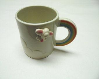Airplane Rainbow Coffee Cup Mug