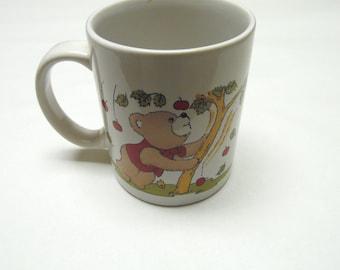 Teddy Bear Cherry Apple Tree Coffee Cup Mug