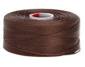 C-Lon Size #D Nylon Beading Thread - Brown