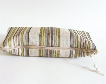 Citron Striped Clutch, OOAK Wedding Clutch, Women Purse Wallet, Gift for Mother, Christmas Gift for Her, Evening Out Clutch
