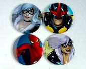 Comic Pocket Mirror Featuring Spiderman Black Cat Nova