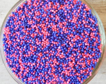 Sprinkles, 6 oz - Pink and Purple Non Pareils Mix - For Cupcakes - Cookies - Cake Pops - Cakes - Dipped Pretzels - Ice Cream - Desserts