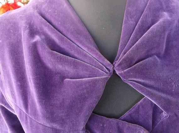 Purple Velveteen Vintage Dress
