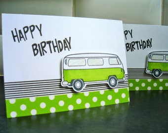 VW Birthday Card, Volkswagen Lover Card