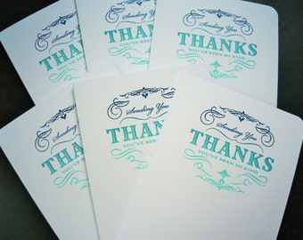 Cyber Monday Sale, Thank You Greeting Cards Set of 6