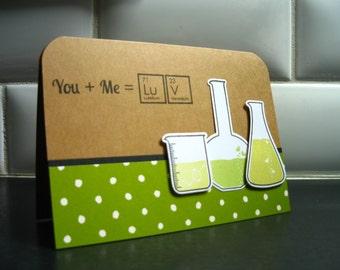 Geeky I Love You Card, Happy Anniversary Card, Chemistry Card, Chemistry Love Card, I Love You Card for Boyfriend, Husband