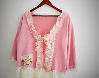 Romantic Rustic Bolero. Edwardian Inspired Shrug. Ethical Fashion