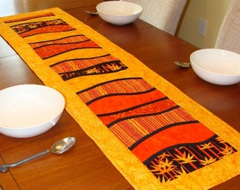 Modern Quilted Table Runner, Sunshine